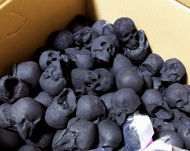 Meatbusters Skull Briquettes